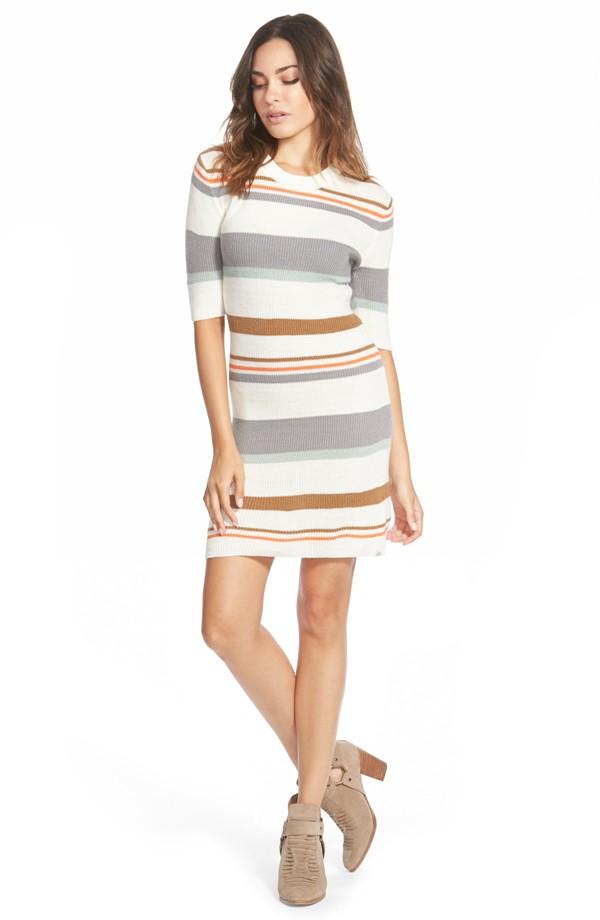 Nordstrom Element Stripe Knit Dress Natural 5005606-10975267