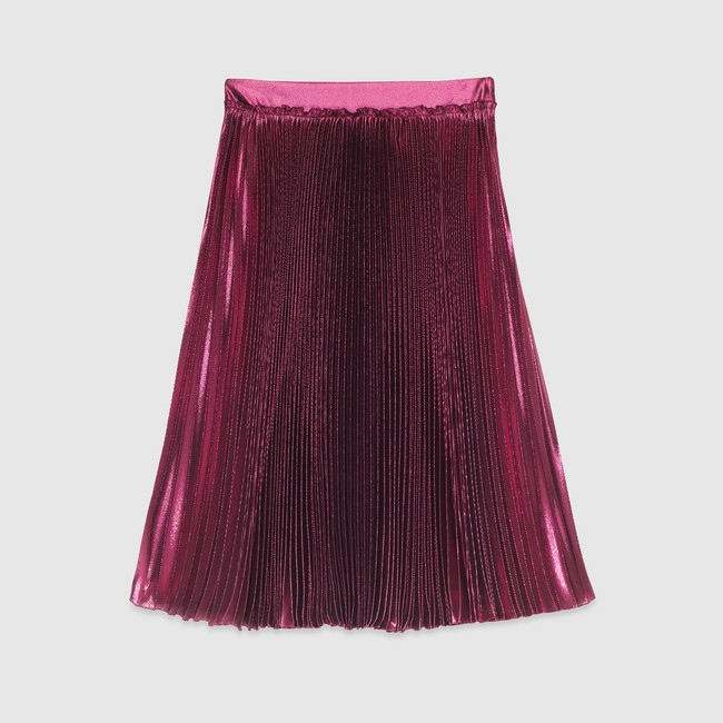 707ave-gucci-cruise-2016-collection-light-pliss-lurex-skirt