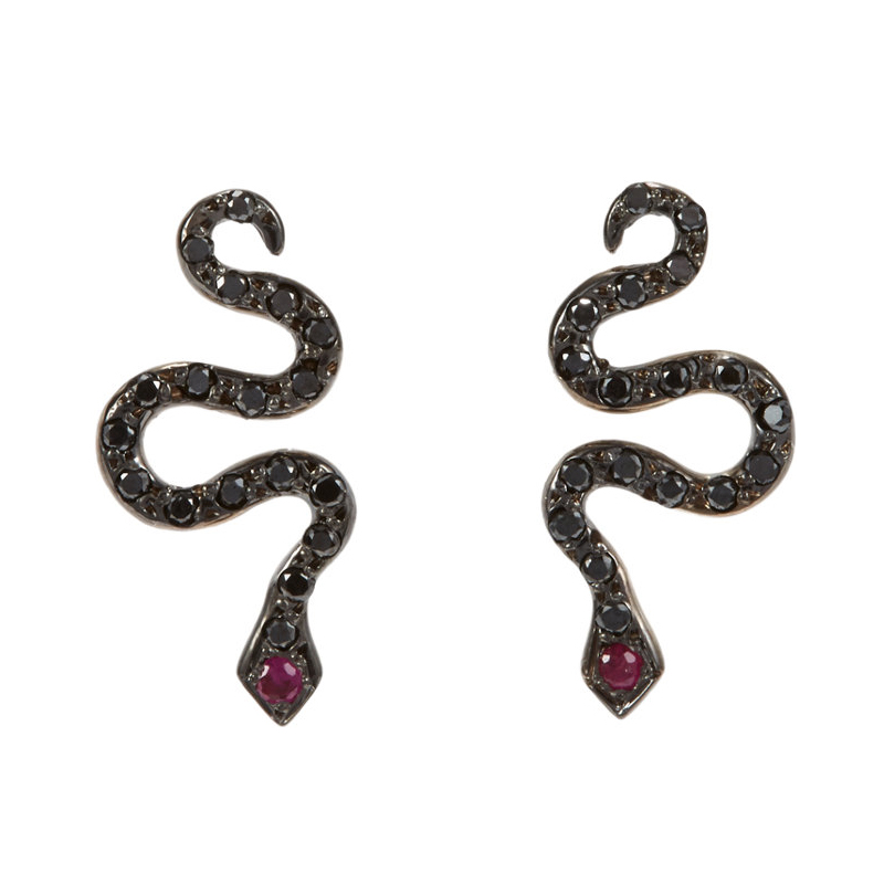ILEANA-MAKRI-Little-Snake-Serpent-Studs-1265-sized
