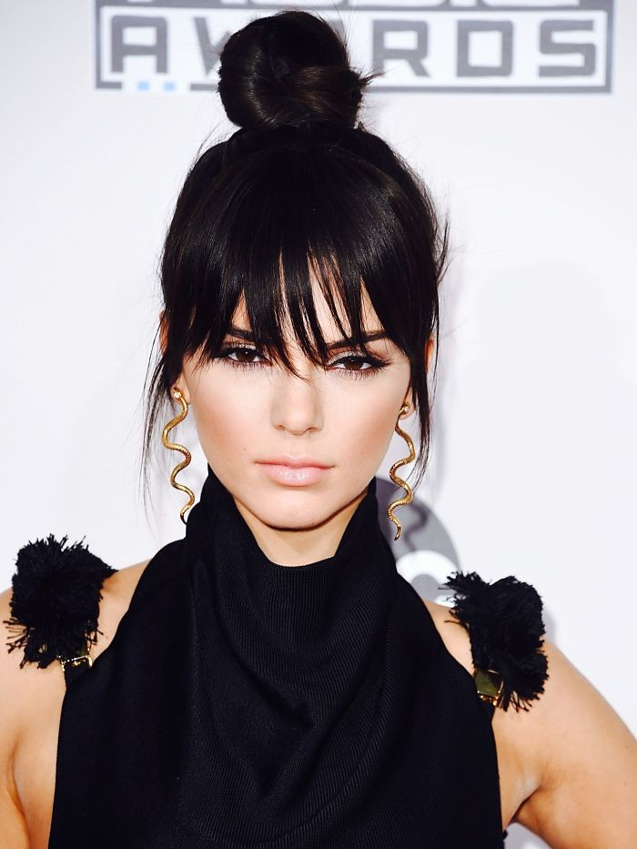 kendall-jenner-snake-earrings-inspiration-celebrity-topknot