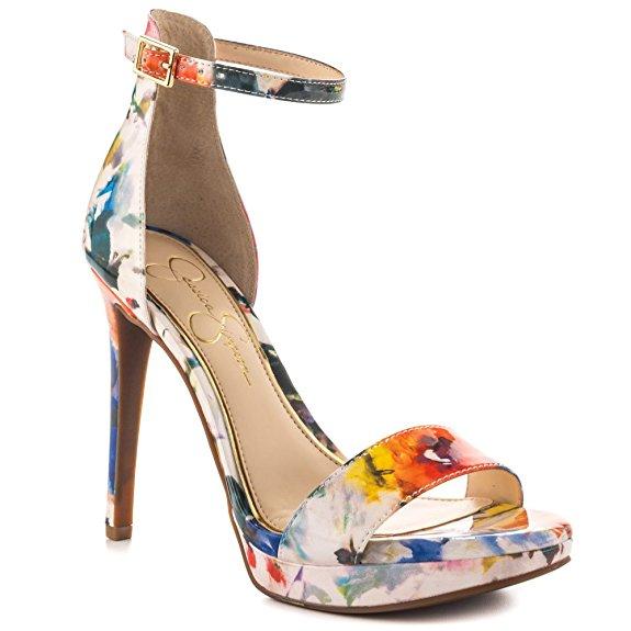 Jessica Simpson Valie - Multi Floral Print Patent-70.00